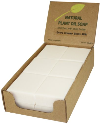 (Australian Natural Soap - Goats Milk (12 bars), Enriched with shea butter, Triple-milled (twice), creamy & rich lather )
