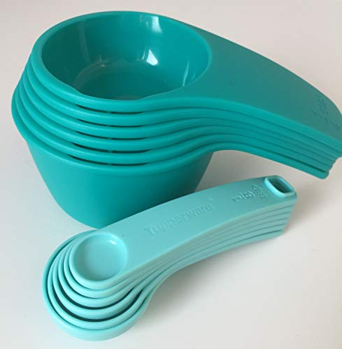 Tupperware Measuring Cup & Spoon Set Newest Design Teal