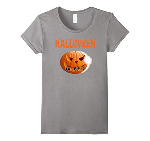 [Womens Halloween 2017 Trick Or Treat T Shirt Gift Idea Halloween T Small Slate] (Too Soon Party Costume Ideas)