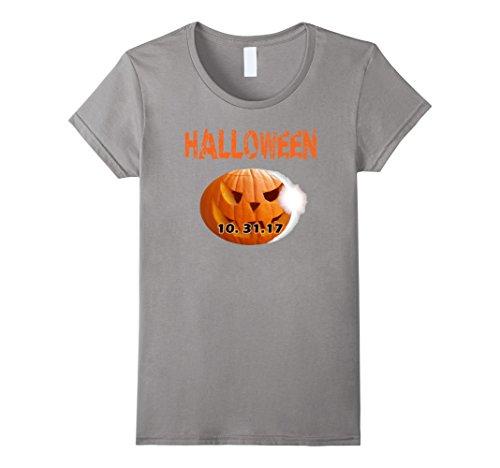 Too Soon Halloween Costumes (Womens Halloween 2017 Trick Or Treat T Shirt Gift Idea Halloween T Small Slate)
