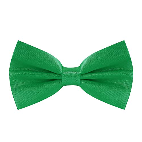 Green Bow Tie for Men St. Patrick's Day Bow Ties Leprechaun Bowtie ()