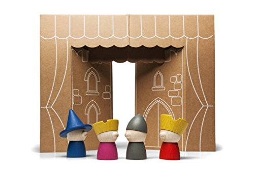 (Storytellers - Wooden Finger Puppets - designed and made in Italy)