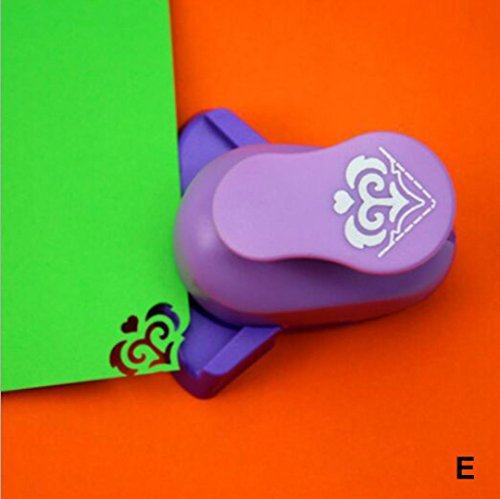 Embossing Device – Iusun DIY Embossing Machine Corner Paper Printing Card Cutter Shaper Scrapbook Punch Kids Handmade Gift (D)