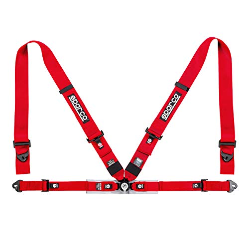 Sparco FIA 4-Point Harness Set 04716M1RS (Color: Red)