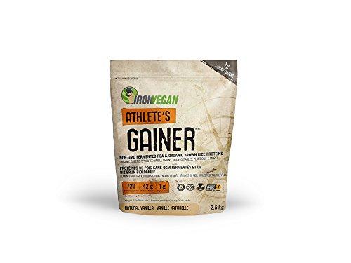 Iron Vegan Athlete's Gainer Natural Vanilla, 5.5 lbs