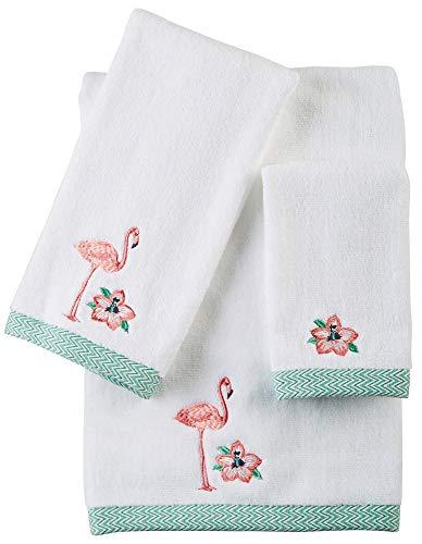 Bath Towels Flamingo - CHF Preppy Leaf Bath Towel, 27W x 52L, White Multi
