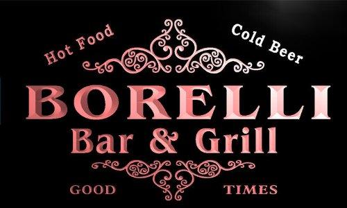u04669-r BORELLI Family Name Bar &