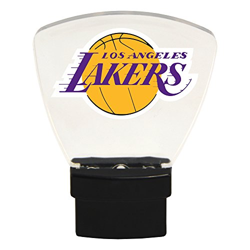 Authentic Street Signs NBA Officially Licensed-LED NIGHT LIGHT-Super Energy Efficient-Prime Power Saving 0.5 watt-Plug In-Great Sports Fan gift for Adults-Babies-Kids Room (Los Angeles Lakers)