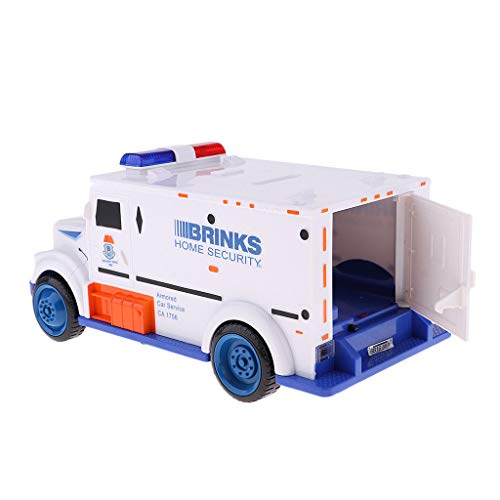 ESC White Armored Truck Password Piggy Bank Money Saving Box with Coin & Note Insertion Music by ESC (Image #4)