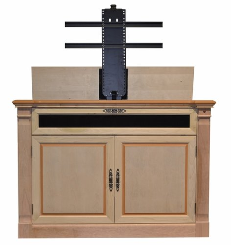 - Touchstone 70152 - Adonzo TV Lift Cabinet (Unfinished) - Up to 60 Inch TVs Diagonal (55 In Wide) - Traditional Motorized TV Cabinet - Pop Up TV Cabinet With Memory Feature, IR/RF, 12V Trigger
