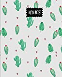 "Notes: Watermelon & Cactus Journal, size 8"" x 10"" , Ruled Journal With Cute Journal Design (Cute College Journal) (Volume 3)"