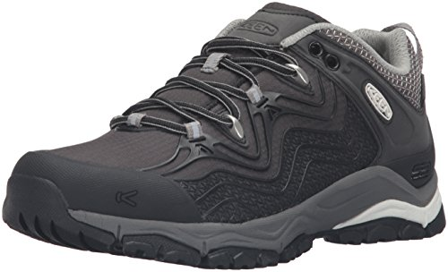 KEEN Women's Aphlex Waterproof Shoe, Black/Gargoyle, 9 M US by KEEN