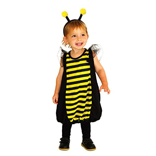 Toddler Ladybird Dress Up Kit Costume for Animal Insect Bug Fancy Outfit Set (S, yellow)