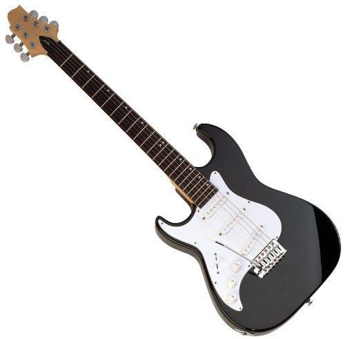 Samick MB1 - Lefty Black Finish Malibu™ Series 6-String Electric Guitar -  MH-MB1LHBK