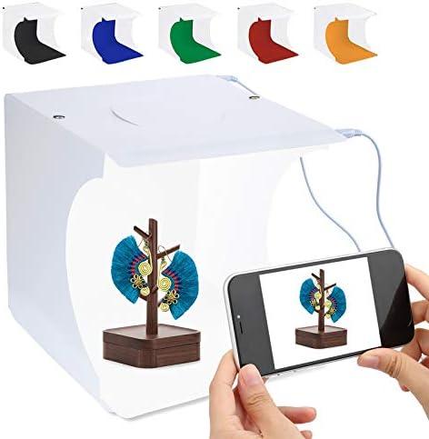 Caja de luz para Fotos de 20 cm con Luces LED Ajustables para Disparar con 6 Colores de Fondo Caja de luz para Fotos de Estudio de fotografía: Amazon.es: Electrónica