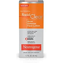 Neutrogena Rapid Clear Acne Defense Face Lotion With Salicylic Acid, 1.7 Fl. Oz. (Pack of 3)