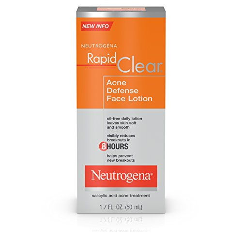 Neutrogena Rapid Clear Acne Defense  Face Lotion with Salicylic Acid, 1.7 fl. oz (Pack of ()