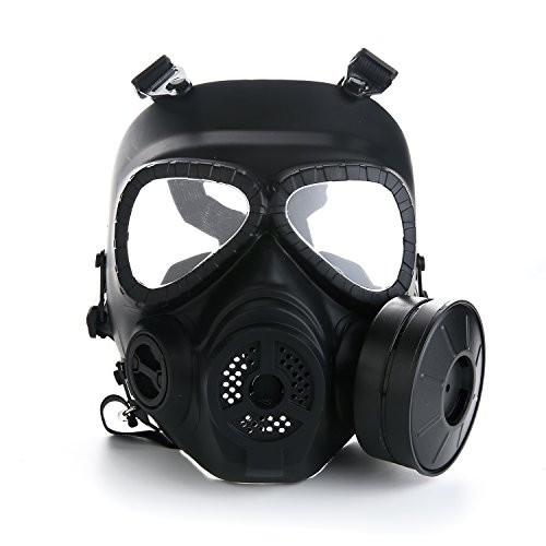 VILONG Airsoft Paintbal Dummy Gas Mask Fan for Cosplay Protection Zombie Soldiers Halloween Masquerade Resident Evil Antivirus Skull (Fan Mask)