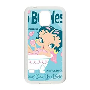 Samsung Galaxy S5 Cell Phone Case White Betty Boop Bubbles FXS_778818