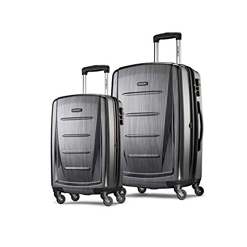 Samsonite Winfield 2 Hardside Expandable Luggage with Spinner Wheels, Charcoal, 2-Piece Set (20/28)