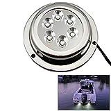 Outdoor Lights 12W White Light 6500-7500K LED Underwater Boat Marine Light Waterproof Light Lamps, DC 11-14V Garden Lights