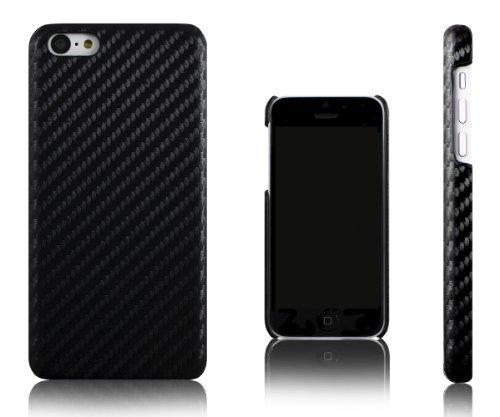 Xcessor Carbon Fibre Case for Apple iPhone 5C. Black