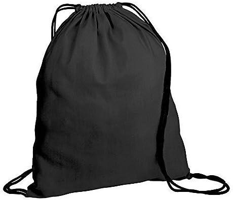 Mochila de Algodón con Cordón para Niños x 30 - Bolsa para Gimnasio, Natación, Deportes, Educación Física, Libros - Algodón, 30 x Negro/Cuerdas Negras: Amazon.es: Zapatos y complementos
