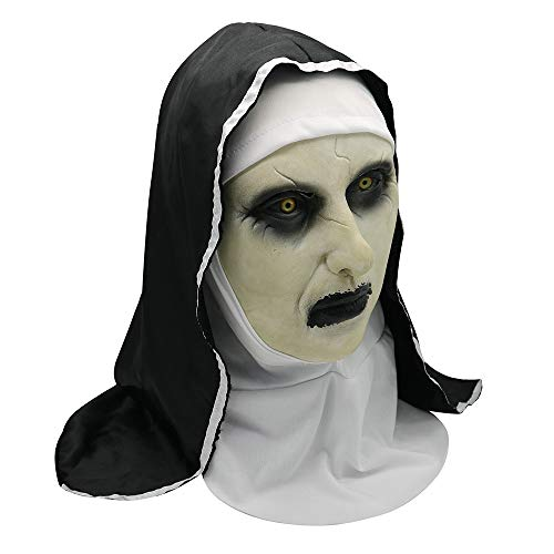 Female Dead Clown Costumes - Scary Mask Halloween Horror Latex Nun