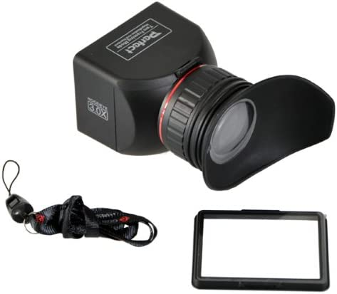 Sony and Other DSLR Cameras ggs3.0x LCDVF GGS Perfect Foldable LCD Viewfinder 3X Magnification for Canon Nikon Black