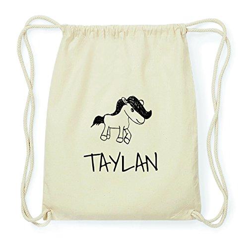 JOllipets TAYLAN Hipster Turnbeutel Tasche Rucksack aus Baumwolle Design: Pony