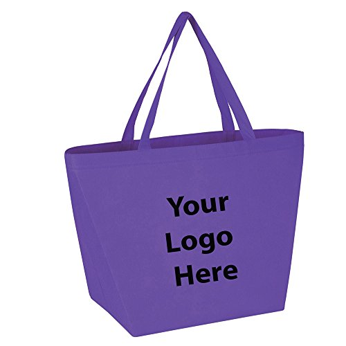 Budget Shopper Tote Bag - 100 Quantity - $1.35 Each - Promotional Product/Bulk with Your Logo/Customized. Size: 20