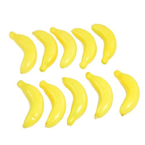 TOOGOO(R) 10 Pcs Yellow Fake Foam Bananas Decorative Party Artificial Fruits