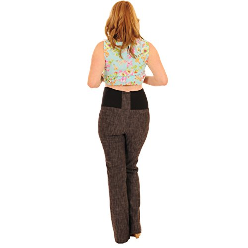 Pink Pixie - Pantalones de maternidad para encima de la barriga, estilo de tela vaquera, pernera larga Azul