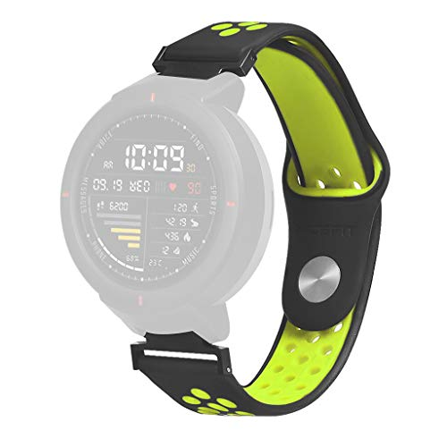 Price comparison product image MChoiceSports Soft Silicone Replacement Watch Band Wrist Strap for Huami Amazfit Verge (Green)