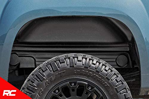 Rough Country Rear Wheel Well Liners Compatible w/ 2007-2013 Chevy Silverado 1500 4207 Rear Wheel Well ()