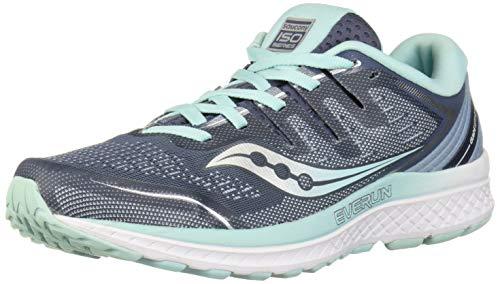 Saucony Women's Guide ISO 2 Running Shoe, Slate/Aqua, 9 M US ()