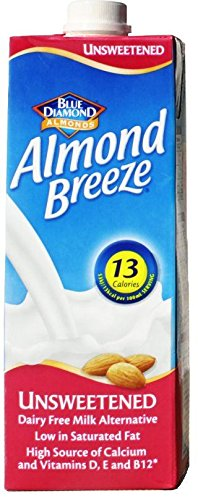Almond Breeze Unsweetened Drink 1Ltr (Pack of 48) by Almond Breeze