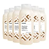 #10: Amazon Brand - Solimo Shea Butter and Oatmeal Body Wash, 24 Fluid Ounce (Pack of 6)