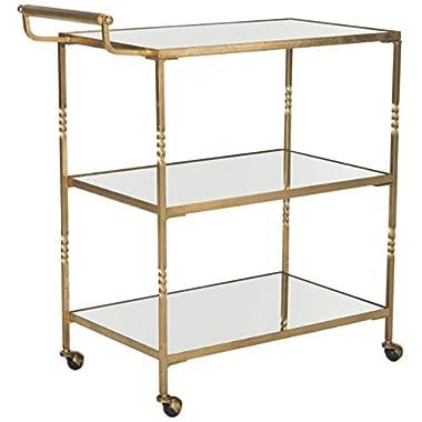 Safavieh Home Collection Aurelius Gold Bar Cart