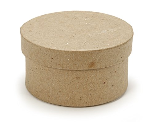 """3"""" Small Round Paper Mache Boxes with Lids - Package of 12 Boxes"""