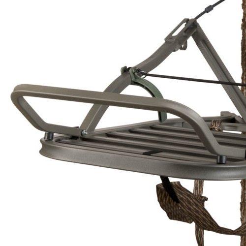 Outdoor Hunting Aluminum Treestand Platform Footrest Nature Hunt Forest Accessories Survival Gear Durable Construction 180 Max 6 Channel - Skroutz by Skroutz (Image #2)