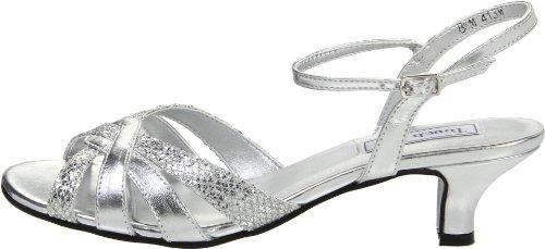 Touch Ups Women's Jane Ankle-Strap Sandal,Silver Glitter,9 M US