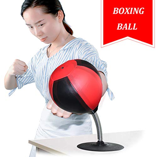 Cyrus Desktop Punching Bag,Stress Buster Stress Reliever Boxing Punch Bag of Office and Bring More Fun for Work,Powerful Suction Cups and Heavy Springs,Suction Cup to Reflex Strain and Tension Toys