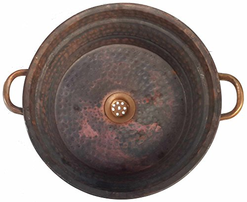 Egypt gift shops Classic Heat Burnt Dark Bronze Matte Finish Vessel Natural Pure Copper Bathroom Handles Sink Toilet Upgrading DIY Installation
