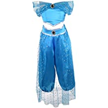 Dressy Daisy Girls Princess Jasmine Dress Up Costumes Arabian Princess Dress Halloween Party