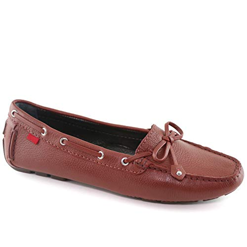 Womens Genuine Leather Made in Brazil Cypress Hill Walnut Grainy Loafer 7