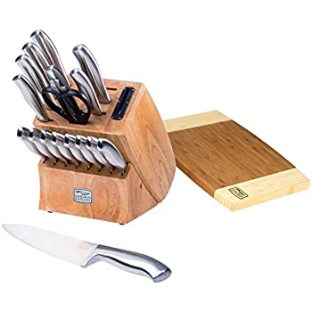 Chicago Cutlery Insignia Steel High-Carbon Stainless Steel Knife Block Set with Cutting Board (19-Piece)