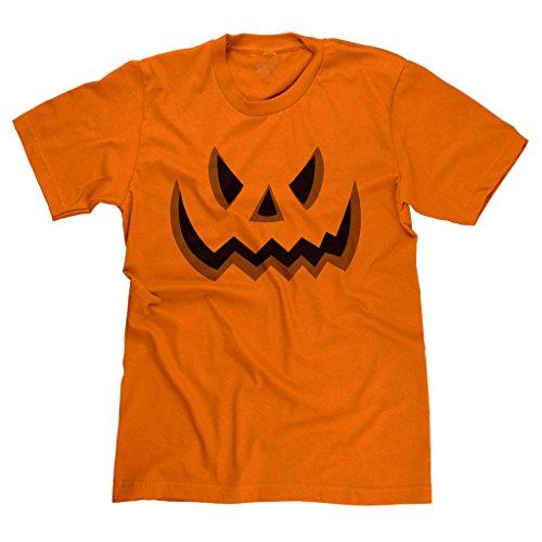 FreshRags Halloween Pumpkin Face Jack-o-lantern Men's T-shirt 4X Orange Awesome Jack O-lanterns