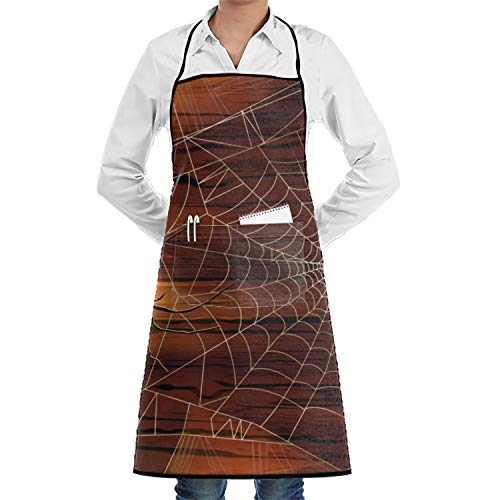 JONHBKD Holiday Halloween Fabric Unisex Apron for Men&Women with Convenient -