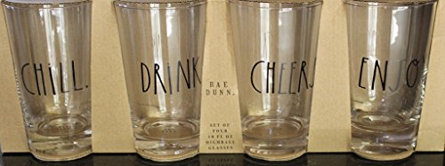 Cheers Highball - Rae Dunn Set of 4 - 18 Fl. Oz. Highball Glasses -